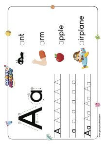 Letter A Tracing pages