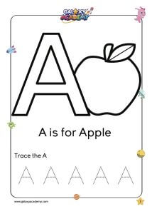 Letter A Coloring